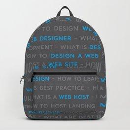 Web Design Words Backpack