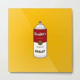Graffiti's Tomato Spray Metal Print