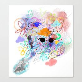 Don't Look At Me In That Way Canvas Print