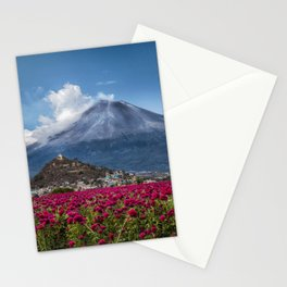 Popocatepetl Volcano Puebla Mexico Stationery Cards