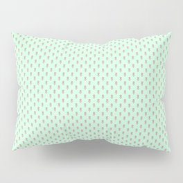 Hedgehog Forest Friends All-Over Repeat Pattern on Mint Green Pillow Sham