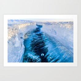 The crack of Baikal ice Art Print
