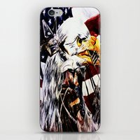 patriotic iPhone & iPod Skins featuring PATRIOTIC TIMES by PERRY DAEZIOUH