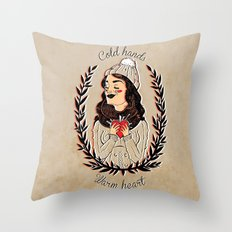 Cold hands...Warm heart Throw Pillow