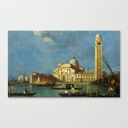Venice - S. Pietro in Castello by Canaletto Canvas Print