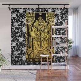 The Hierophant - A Floral Tarot Print Wall Mural