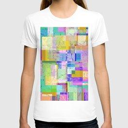 Colorful layered pattern 3 T-shirt
