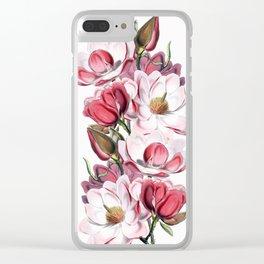 Magnolia 2 Clear iPhone Case