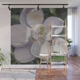 Magnolia Blossom Painting Wall Mural