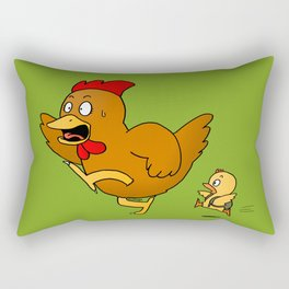 Running Hen (Back To School) Rectangular Pillow