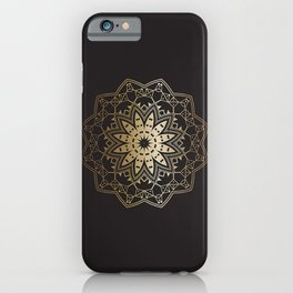 Gold Mandala iPhone Case