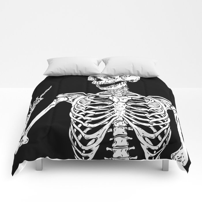 Rock and Roll Skeleton Comforters