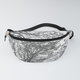 Grey Trees Abstract Fanny Pack
