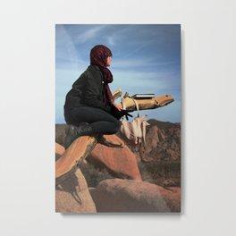Desert Reading Metal Print
