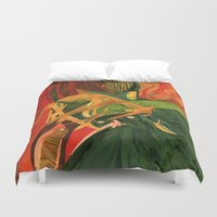 anxiety Duvet Covers featuring Anxiety by Nima