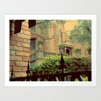 haunted mansion Art Prints featuring Haunted Mansion by Lea Bostwick