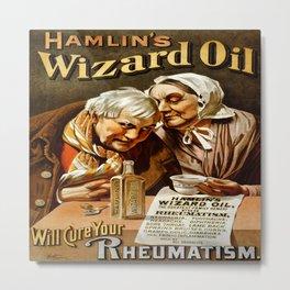 Vintage poster - Hamlin's Wizard Oil Metal Print