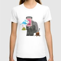 dentist T-shirts featuring Hippopotamouth by Oliver Lake
