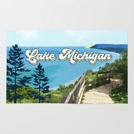 Lake Michigan Retro Rug
