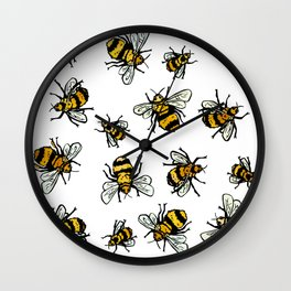 ALL DA BEEZ - White Wall Clock