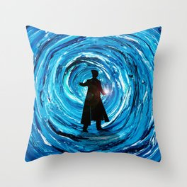 Doctor Inside Time Vortex Throw Pillow
