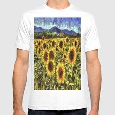 Sunflowers Vincent Van Gogh White MEDIUM Mens Fitted Tee