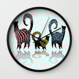 CASHMERE CATS Wall Clock