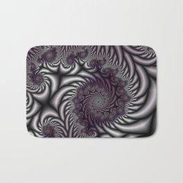 Purple and Gray Bath Mat