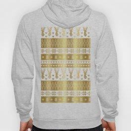 Nordic fair isle christmas pattern gold Hoody