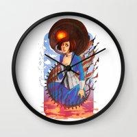 bioshock Wall Clocks featuring Bioshock by Vaahlkult