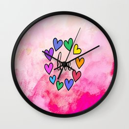 Love 118 Wall Clock