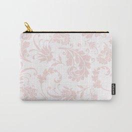Vintage blush pink elegant floral damask Carry-All Pouch