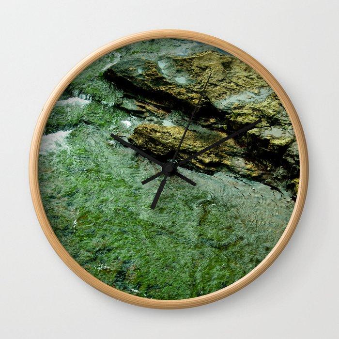 Green Water Wall Clock