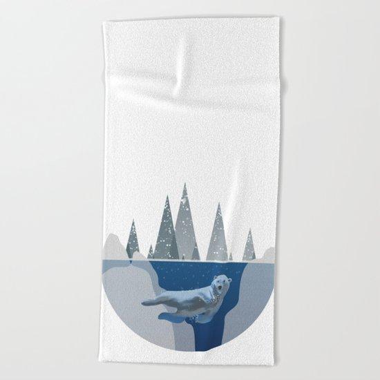 Polar Bear Underwater Dome Beach Towel
