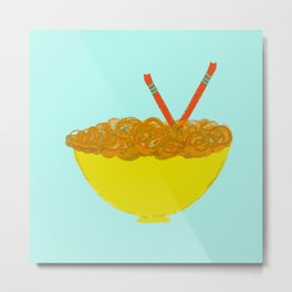 Oodles of Noodles Metal Print