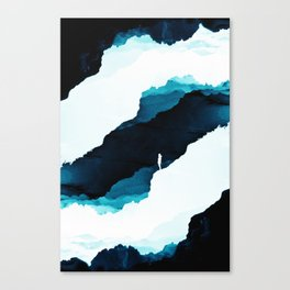 Teal Isolation Canvas Print