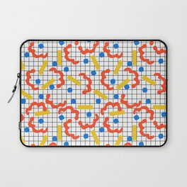Primal - memphis throwback squiggle circle geometric grid lines dots trendy hipster 80s retro cool Laptop Sleeve