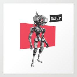 Bleep Art Print