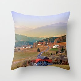 Country road in amazing panorama | landscape photography Throw Pillow