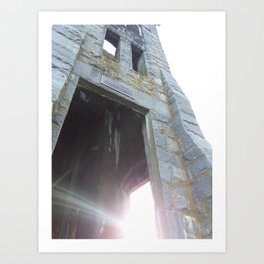 The Old Stone Church at Sunset Art Print