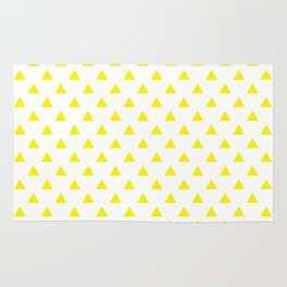 Yellow Triangles Rug