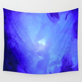 Textures (Blue version) Wall Tapestry