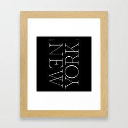NYC Typography Framed Art Print