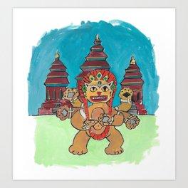 Cambodia Cat Art Print