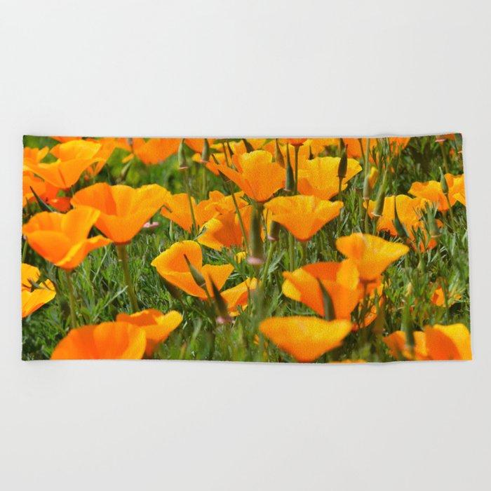 California Poppies Super Bloom Beach Towel