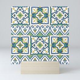 Italian Tile Pattern – Sicilian ceramic from Caltagirone Mini Art Print