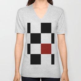 Checkerboard Unisex V-Neck