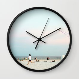 Running Beach Wall Clock