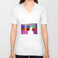 silhouette V-neck T-shirts featuring Silhouette by Studio Laura Campanella