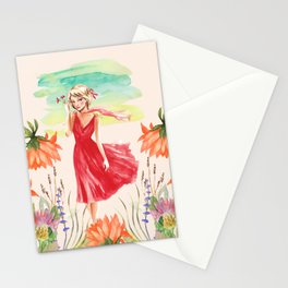 Charming Girl Stationery Cards